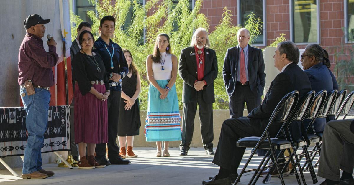 The University of Arizona Health Sciences honored the tribes of Arizona with a blessing of the newly constructed Health Sciences Innovation Building on Nov. 1, 2019,