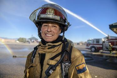 """Throughout my career, it has been encouraging to see an increased emphasis on cancer and mental health,"" said Lily Pesqueira, a captain and 20-year veteran of the Tucson Fire Department."
