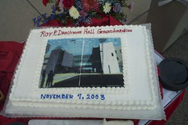 The November 2003 groundbreaking for the construction of Roy P. Drachman Hall.
