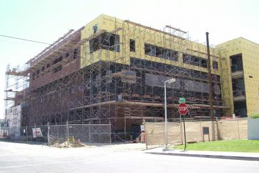 Roy P. Drachman Hall under construction in 2005.