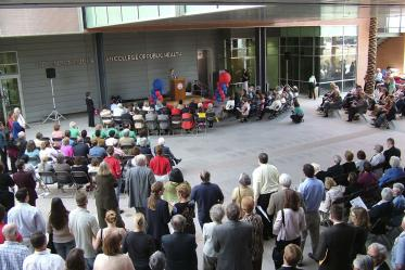 The Mel and Enid Zuckerman College of Public Health celebrates the grand opening and dedication of Roy P. Drachman Hall in 2006.