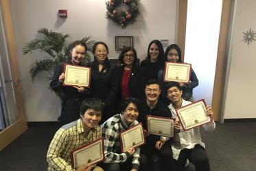 Students from Beijing Normal University attend a semester-long program called the International Graduate Mentoring Program in 2019.