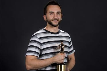 Adolpho Navarro, pictured with a Telly Award received in a previous year
