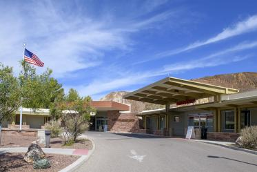 Copper Queen Community Hospital in Bisbee, Ariz., provides basic primary health care to southern Cochise County. It was founded in 1884, when Bisbee was a boomtown with a thriving mining industry. Pictured here is the entrance to the hospital's emergency department.
