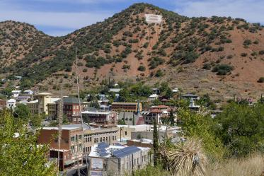 The county seat of Cochise County, Bisbee is home to 5,225 people, located 90 miles southeast of Tucson in the Mule Mountains. Bisbee is one community that is piloting bedside lung ultrasounds to diagnose COVID-19.