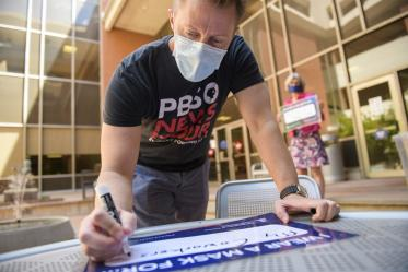 Will Holst, director of marketing and communications at the UArizona College of Nursing, writes his motivations for upholding public health standards by wearing a mask.