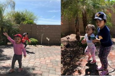 What's not to enjoy in the great outdoors during a lunch break while working from home. Pictured are the daughters of Associate Research Scientist Hsin-wu Tseng, PhD. Dr. Tseng works for the College of Medicine – Tucson in the Department of Medical Imaging.