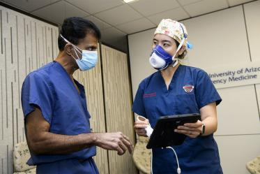 From their base in the College of Medicine – Tucson, Dr. Situ-LaCasse and her mentor, Srikar Adhikari, MD, professor of emergency medicine, discuss bringing bedside ultrasound devices to rural communities, expanding access to the technology.