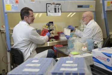 Michael Badowski, PhD, and David Harris, PhD, led the efforts alongside research and laboratory technicians to produce and deliver thousands of COVID-19 specimen collection kits to health care facilities throughout Arizona starting in March.