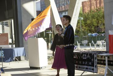 The Native American blessing of the Health Sciences Innovation Building honors the past and lays the foundation for future projects that ultimately will benefit the university that we call home.