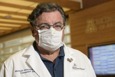 """Michael Abecassis, MD, MBA, dean, the College of Medicine – Tucson. """"I wear a mask because I want to protect others. Most people think that wearing a mask protects you and that is not necessarily true, unless it is a specific N-95 mask. Masks are meant to protect others. So, if you do not wear your mask then you are just being selfish."""""""