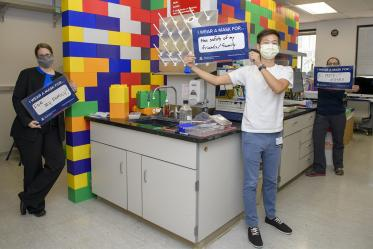 Researchers in the Vanderah Lab study pain and addiction, and wear their masks.