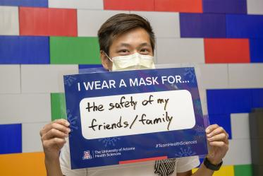 Kevin Cheng, MSc, PhD student, University of Arizona College of Medicine – Tucson, chooses safety over comfort.