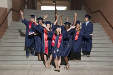 Students celebrate at the 2013 convocation.