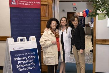 Primary Care Physician scholarship recipient Gabrielle Milillo, center, poses for a photo with her grandmother, left, and mother, right, before the scholarship awards reception.