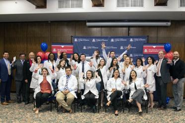 The Primary Care Physician scholarship recipients from the University of Arizona College of Medicine – Tucson with University of Arizona Health Sciences staff and scholarship organizers.