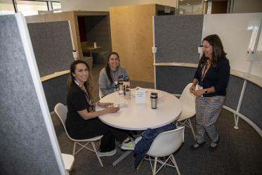 The clinical research support team will be one of the groups holding office hours at the Faculty Commons + Advisory.