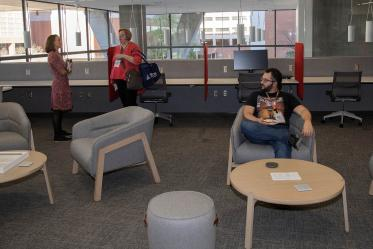 The Faculty Commons + Advisory grand opening event March 4, 2020.