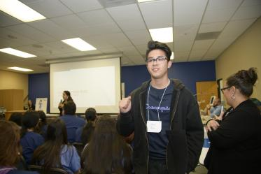 Christopher Ruiz from Sunnyside High School received a scholarship from Banner at the career fair.