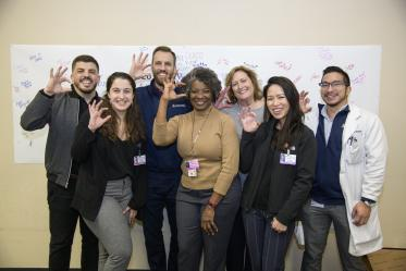 Medical students, residents and faculty from the University of Arizona College of Medicine – Tucson welcomed Tucson-area high school students to the annual A Pathway to Success career fair to learn about professions in health care.