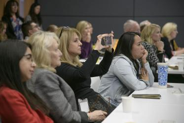 The town hall event in Phoenix brought together faculty and staff for updates about Health Sciences.