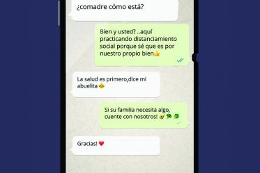 WhatsApp is a popular way to communicate with people who live in different countries, here's an example of a model conversation about social distancing to protect those we love.