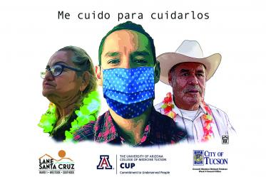 """This poster concept is """"I take care of myself to take care of them,"""" to show everyone must help practice public health precautions for the good of the entire community."""