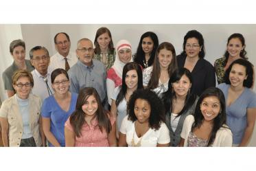 Faculty and students participate in the first public health student orientation at the Phoenix Biomedical Campus in 2010. The first Phoenix class consisted of 13 students enrolled in the Master of Public Health program in public health practice.