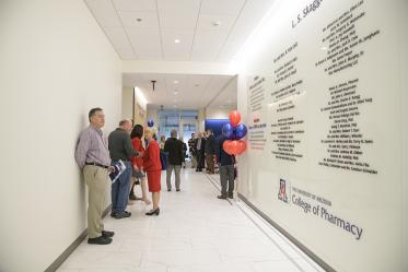 Donors take tours through the Skaggs expansion.
