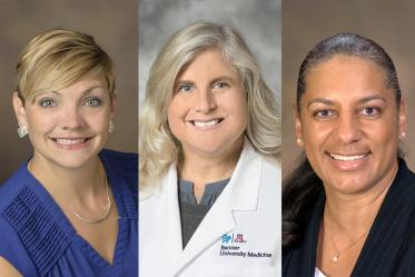 From left: Whole Health Clinic Practice Management Director Lori Wellman, MC, NCC; Medical Director Ann Mathias, DO; founder Patricia Harrison-Monroe, PhD.