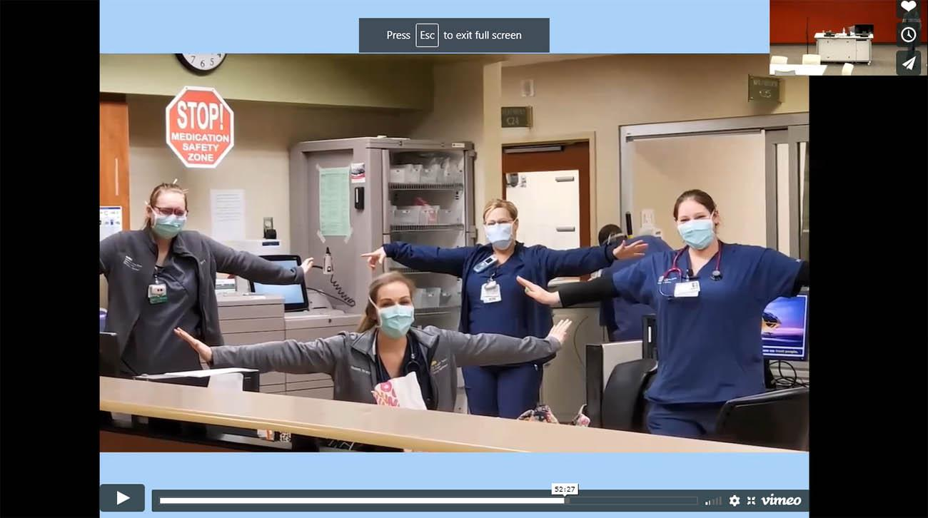 "A recent Arthritis Center webinar focused on resiliency, and included a music video featuring several medical professionals lip synching to the song ""You've Got a Friend."""