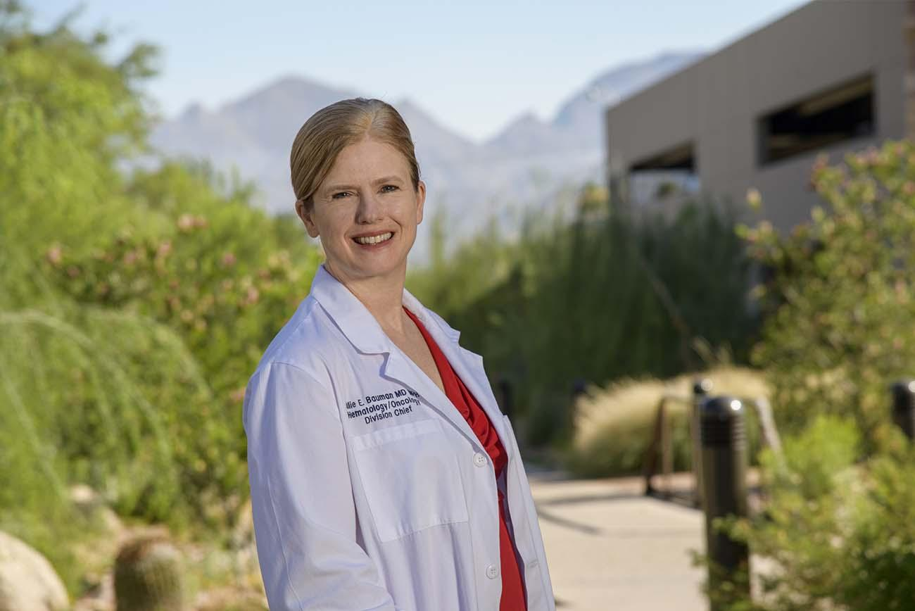 Julie E. Bauman, MD, is deputy director of the UArizona Cancer Center and a professor at the College of Medicine –Tucson.