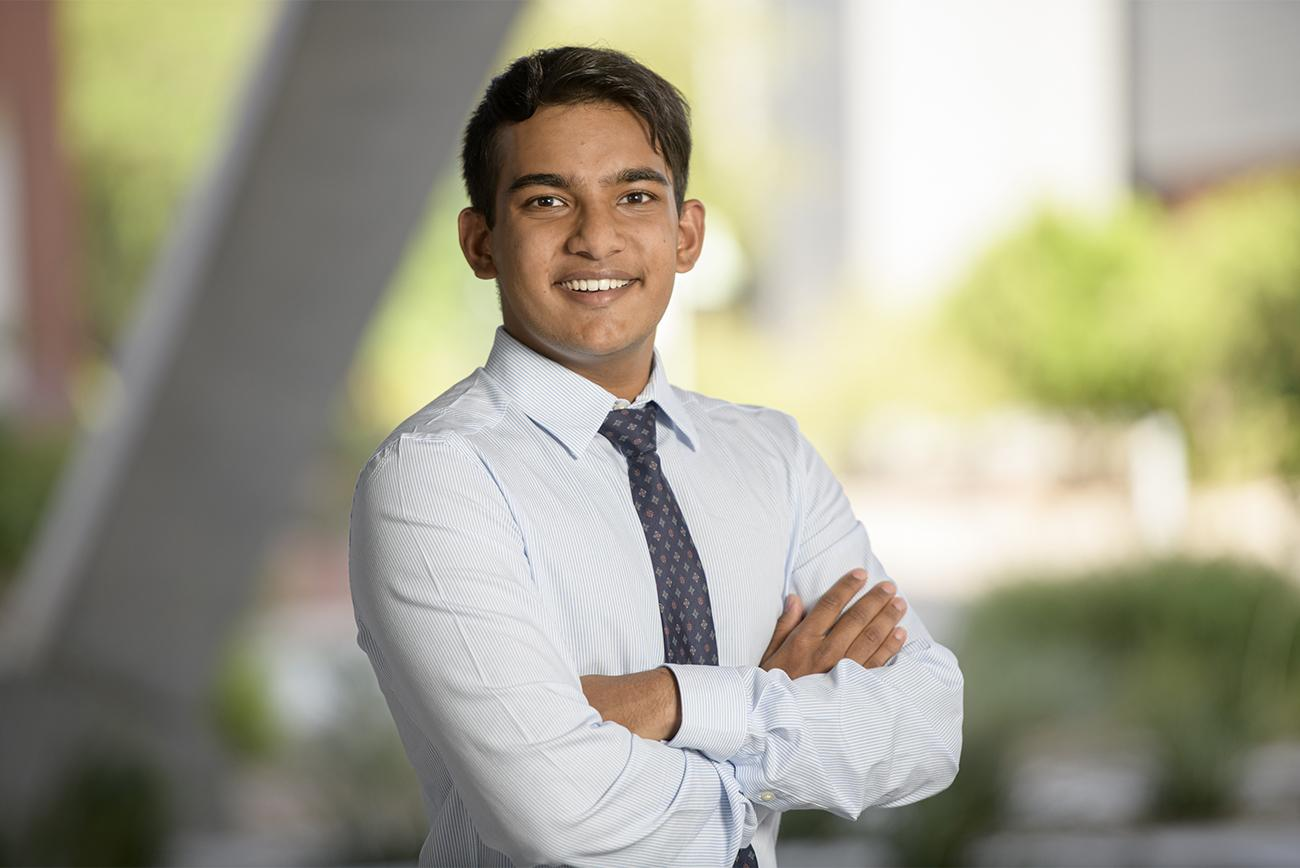 Nikhil Mathur is one of six students who will begin the Accelerated Pathway to Medical Education this fall.