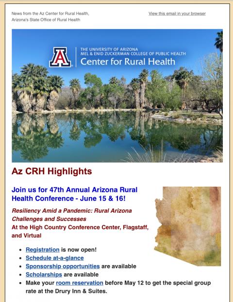 Arizona Center for Rural Health News May 2021
