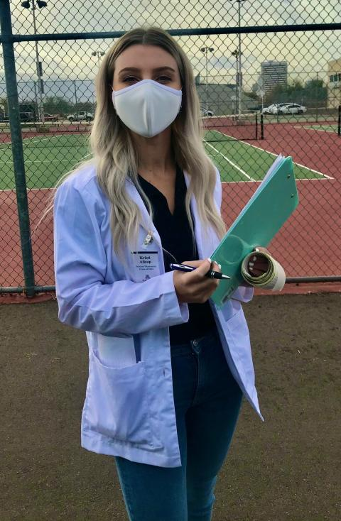 Volunteer Kristi Allsup is a student at the UArizona College of Pharmacy