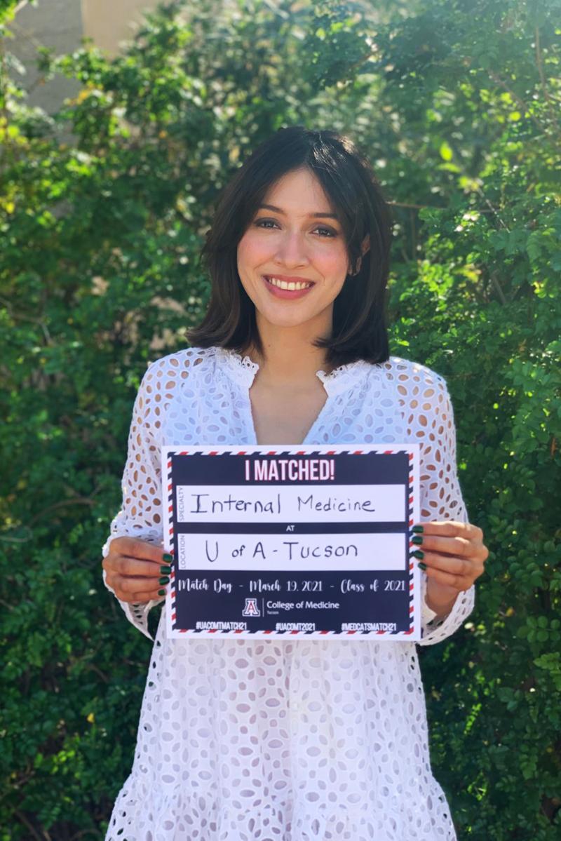 Karen Beltran will stay put to do her residency in internal medicine at the College of Medicine – Tucson and Banner – UMC Tucson. (Photo: Courtesy of Karen Beltran)